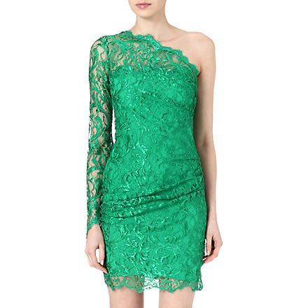 EMILIO PUCCI Asymmetric lace dress (Green