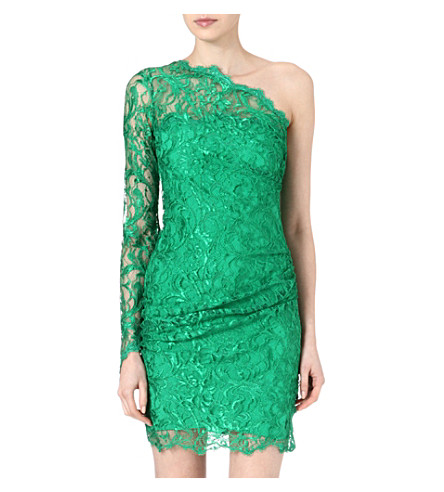 EMILIO PUCCI Asymmetric lace dress (Green