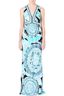 EMILIO PUCCI Bordered neckline maxi dress