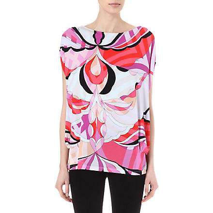 EMILIO PUCCI Printed loose-fit top (Red