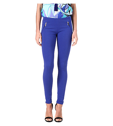 EMILIO PUCCI Zip-pocket leggings (Cobalt