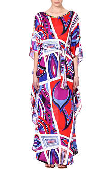 EMILIO PUCCI Beaded silk maxi dress