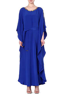 EMILIO PUCCI Beaded-trim silk maxi dress