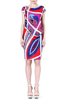 EMILIO PUCCI Twist-detail printed dress