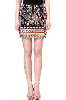 EMILIO PUCCI Graffiti-embellished mini skirt
