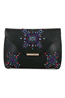 EMILIO PUCCI Stone embellished envelope clutch