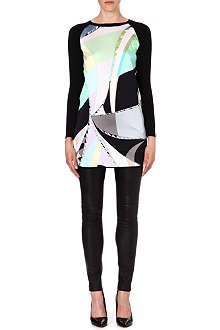 EMILIO PUCCI Silk-panel knitted dress