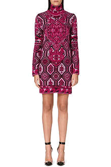 EMILIO PUCCI Turtleneck jacquard-knit dress