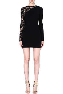 EMILIO PUCCI Lace-sleeve knitted dress