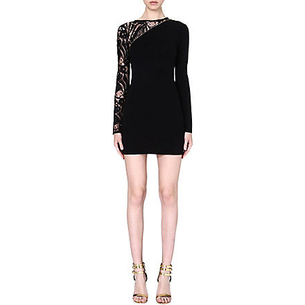 EMILIO PUCCI Lace-sleeve knitted dress (Black