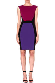 EMILIO PUCCI Colour-blocked stretch-crepe dress