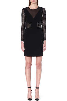 EMILIO PUCCI Embellished sheer-detail dress