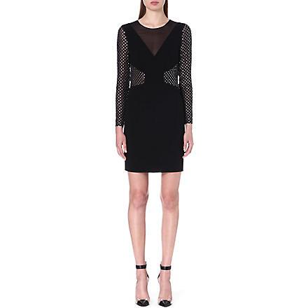 EMILIO PUCCI Embellished sheer-detail dress (Black