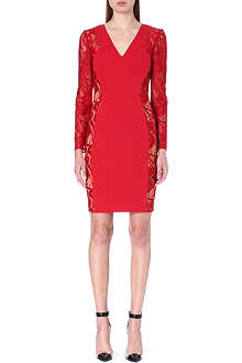 EMILIO PUCCI Lace-panel stretch-crepe dress