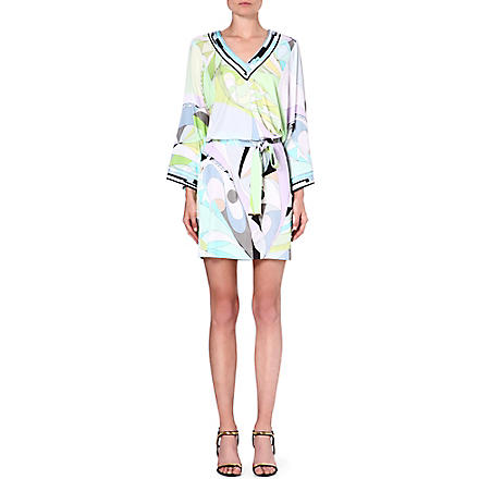 EMILIO PUCCI Printed long-sleeved tunic (Green