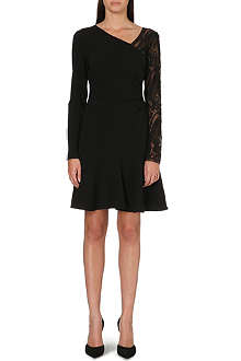 EMILIO PUCCI Lace-sleeve skater dress
