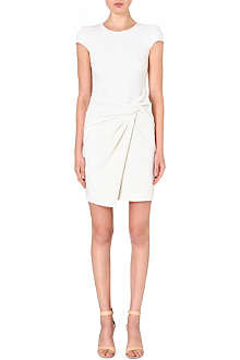 EMILIO PUCCI Wrap-detail stretch-wool dress