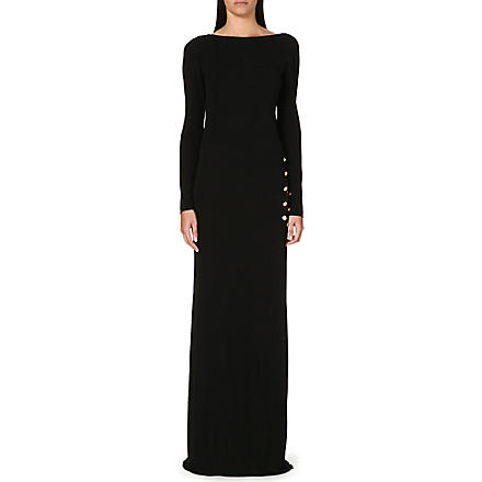 EMILIO PUCCI Chain-detail jersey gown (Black