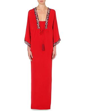 EMILIO PUCCI Tassel silk maxi dress