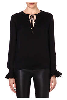 EMILIO PUCCI Tie-detailed silk top
