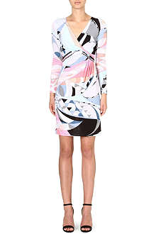 EMILIO PUCCI Ruched printed dress