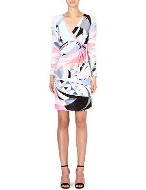 EMILIO PUCCI Ruched printed dress