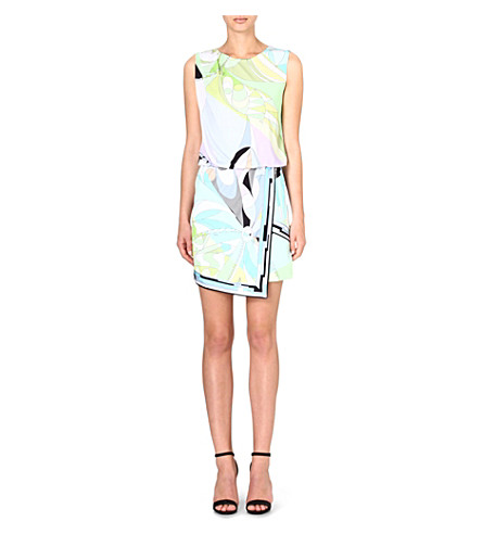 EMILIO PUCCI Printed asymmetric dress (Green