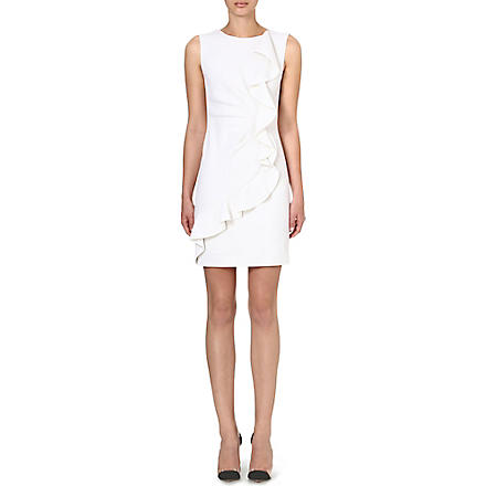 EMILIO PUCCI Ruffled shift dress (White