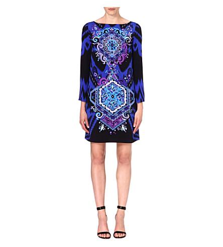 EMILIO PUCCI Patterned silk dress (Blue