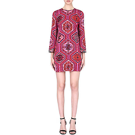 EMILIO PUCCI Printed stretch-silk dress (Red