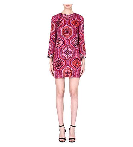 EMILIO PUCCI Printed stretch-silk dress (Red