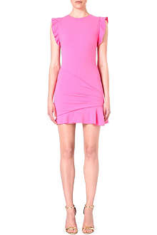 EMILIO PUCCI Frilled-shoulder stretch-wool dress