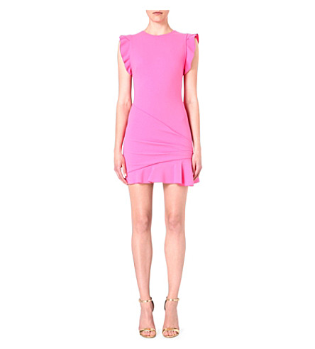 EMILIO PUCCI Frilled-shoulder stretch-wool dress (Pink