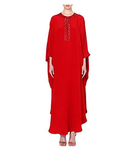 EMILIO PUCCI Beaded silk kaftan (Red