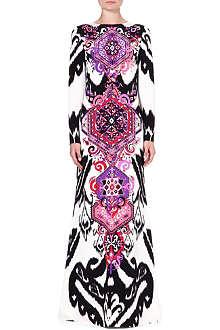 EMILIO PUCCI Printed silk gown