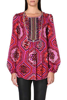 EMILIO PUCCI Embroidered silk blouse