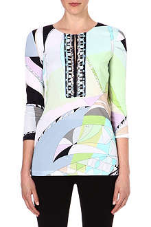 EMILIO PUCCI Embellished printed top