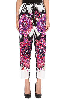 EMILIO PUCCI Printed tapered silk trousers