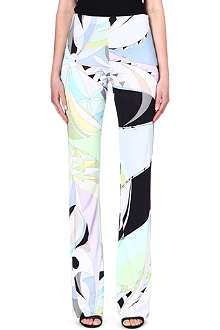 EMILIO PUCCI Printed wide-leg trousers