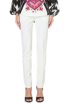 EMILIO PUCCI Slim-fit stretch-wool trousers
