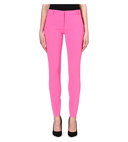 EMILIO PUCCI Skinny stretch-wool trousers (Pink