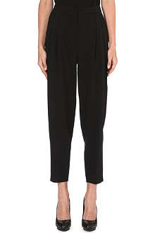 EMILIO PUCCI Pleat-detail tapered stretch-wool trousers