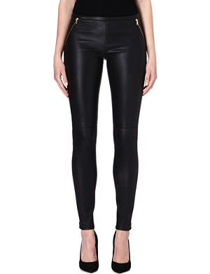 EMILIO PUCCI Zip-detail leather leggings