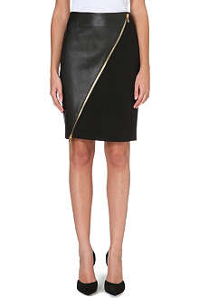 EMILIO PUCCI Asymmetric leather pencil skirt