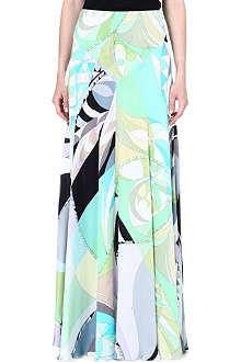 EMILIO PUCCI Printed silk maxi skirt