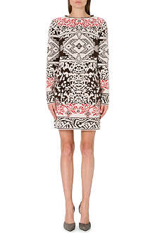 EMILIO PUCCI Long-sleeved jacquard-knit dress