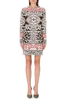EMILIO PUCCI Long-sleeved jacquard-knit dress