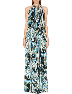 EMILIO PUCCI Bare back cut-out gown