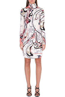 EMILIO PUCCI Turtleneck printed silk dress