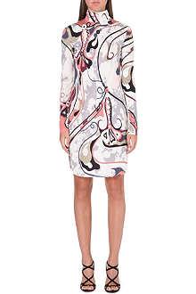 EMILIO PUCCI Turtleneck printed silk dress